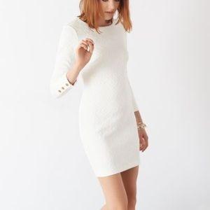 White dynamite body icon dress